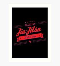 BJJ 3D Banner Art Print