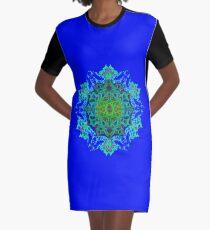 Psychedelic Mandala  Graphic T-Shirt Dress