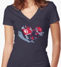 Mario Karting Women's Fitted V-Neck T-Shirt