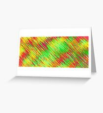 green red yellow painting texture abstract background Greeting Card