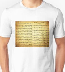 Music sheet on vintage paper T-Shirt