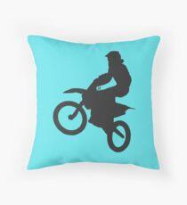 Dirt Bike Stunt Throw Pillow