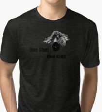 Sniper - One Shot One Kill Tri-blend T-Shirt
