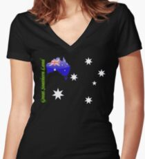 Australia  - Great Southern Land T-Shirt Women's Fitted V-Neck T-Shirt