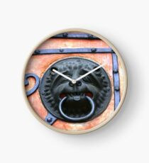 Middle Ages door handle, gate in Germany Clock