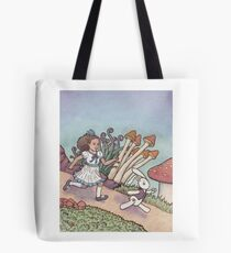 Alice Chased the White Rabbit Tote Bag