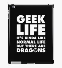 GEEK LIFE - white iPad Case/Skin