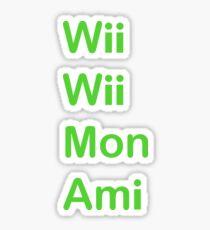 Wii Wii Mon Ami Sticker
