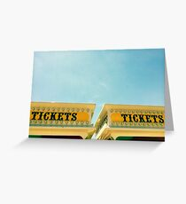 midway tickets Greeting Card