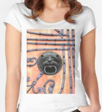 Gate or Door Handle of middle Ages in Germany Women's Fitted Scoop T-Shirt