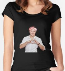 Justin Trudeau Flower Crown Women's Fitted Scoop T-Shirt