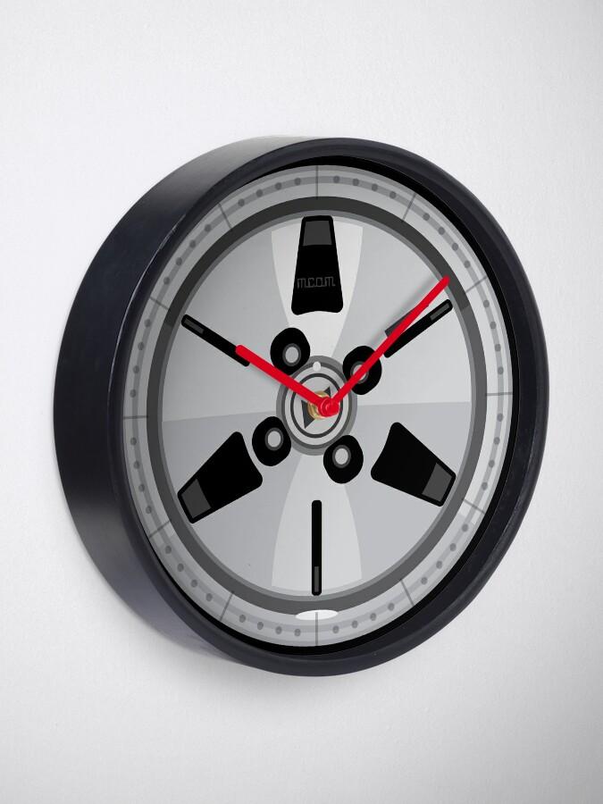 Alternate view of Wheel Design Retro JDM Advan Racing Dish Clock