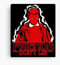 Friends don't lie - Stranger Things Eleven Canvas Print