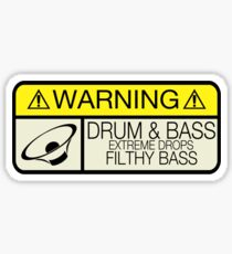 Drum & Bass Warning Sticker
