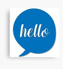 Hi - text bubble Canvas Print