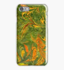 Marble | Olive, Yellow & Orange iPhone Case/Skin