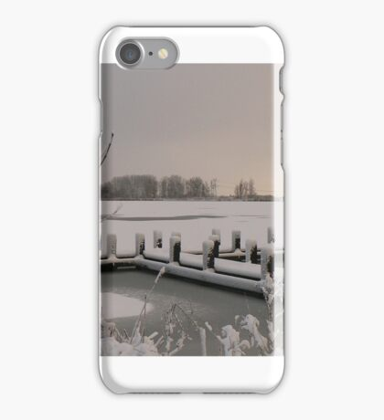 snow covered meer iPhone Case/Skin
