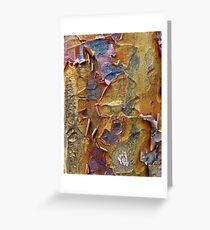Paper Bark Abstract Greeting Card