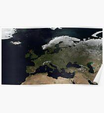 European NASA World Map Poster