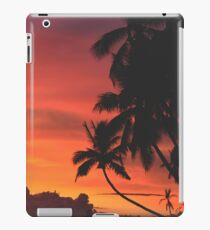 Coconut Trees Silhouette at Dusk iPad Case/Skin