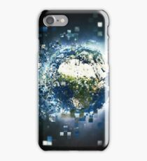 Planet Earth Pixelated Virtual Reality iPhone Case/Skin