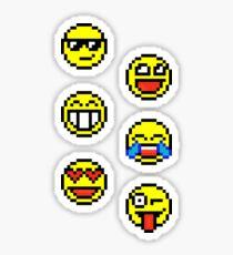 Mostly Happy Moji - Pixels Sticker