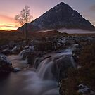 Misty Dusk at the Buachaille by Tim Haynes