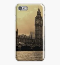 River Thames Sepia iPhone Case/Skin
