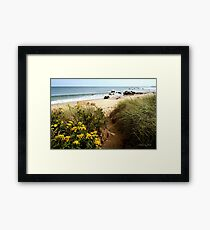 Block Island Pathway to the Sea Framed Print