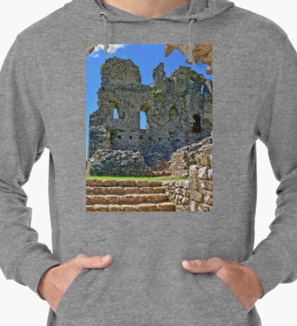 Ogmore Castle, a 12th century Norman Castle in Wales Lightweight Hoodie