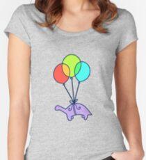Balloon Dinosaur Women's Fitted Scoop T-Shirt