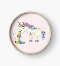 Crazy Unicorn - Puking Rainbows Clock