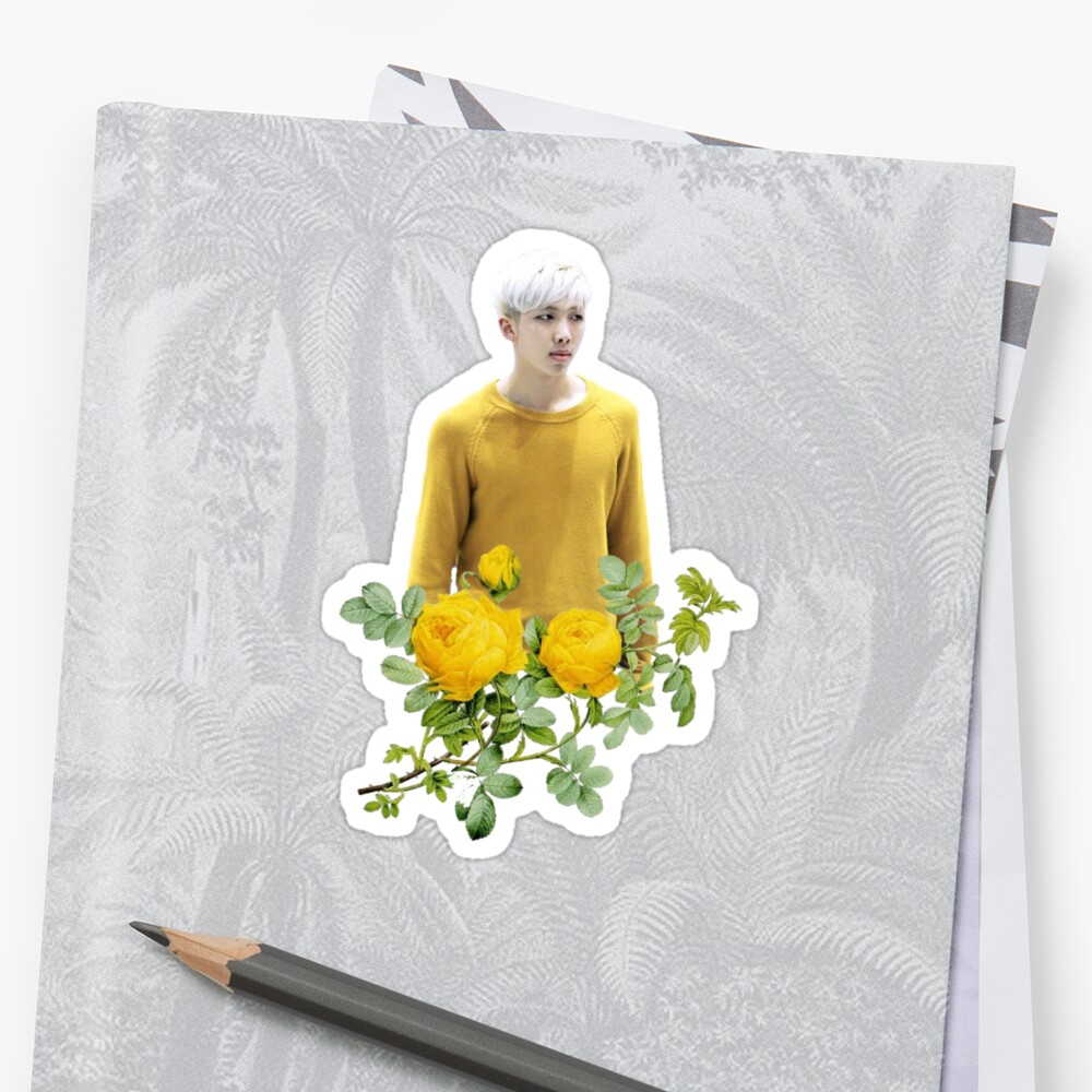 Quot Yellow Rm Bts Quot Sticker By Blosskitty Redbubble