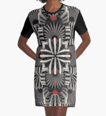 Calaabachti Matrix Graphic T-Shirt Dress