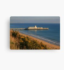 Pier from the West Cliff Canvas Print