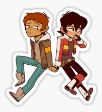 Lance and Keith holding hands Sticker