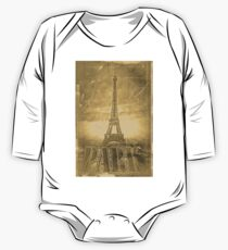 Vintage Paris Eiffel Tower #3 One Piece - Long Sleeve