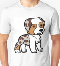MAS red merle cartoon Unisex T-Shirt
