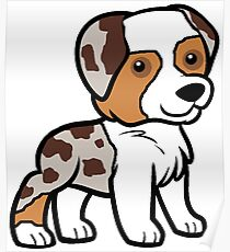 MAS red merle cartoon Poster