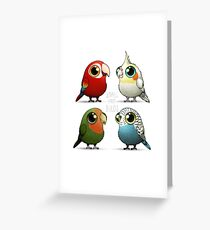 Small Fat Parrots Greeting Card