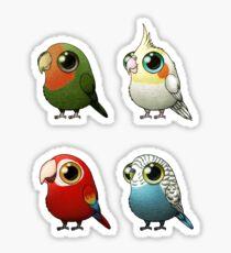 Small Fat Parrots Sticker