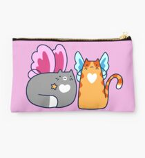 Fairy Tabby and Tuxedo Cat Studio Pouch