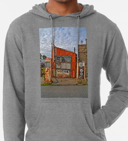 Abandoned Old Petrol Filling Station, Wales Lightweight Hoodie