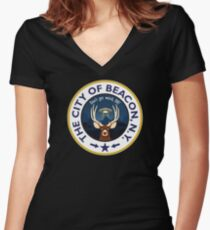 People of Earth Women's Fitted V-Neck T-Shirt