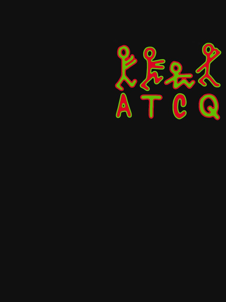 """a tribe called quest atcq logo, alternating outline"""" classic t"""