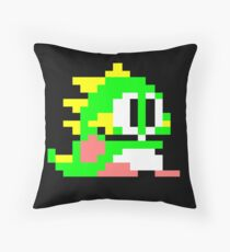 Bub from Bubble Bobble Throw Pillow
