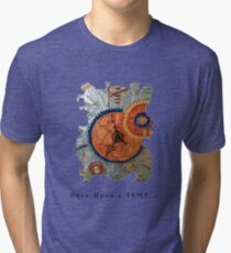 STEAMPUNK FANTASY GEARS, ONCE UPON A TIME FUNNY QUOTE Tri-blend T-Shirt
