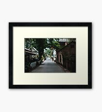 Downtown St. Augustine Alley Framed Print