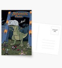 Tyranosaurus Boo Postcards