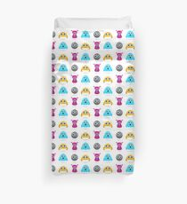 Little worms and creatures : cartoon characters Duvet Cover